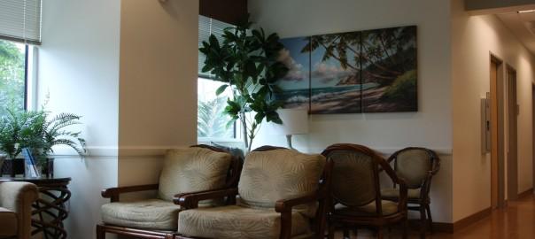 ハワイのクリニックではリラックスして診察を待てる